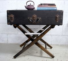 Gonna do something like this with a cool old suitcase that's sitting around gathering dust.