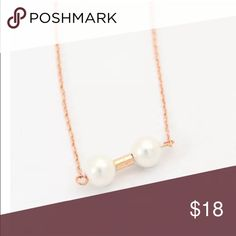 Simple Gold Filled Pearl Bar Necklace Brand New #N042 Jewelry Necklaces
