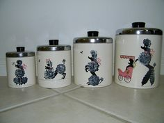 Ransburg Poodle Canisters by Sara in AZ, via Flickr