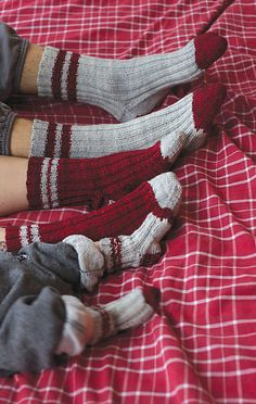 Fun socks to knit for the whole family. >> Ravelry: lumberjack pattern by tincanknits
