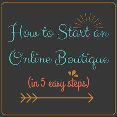 How to Start an Online Boutique in 5 Easy Steps