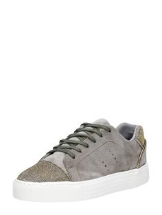 PS Poelman lage suede dames sneakers - taupe