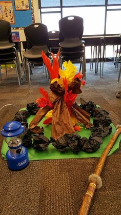 Classroom Campfire! The kids had a blast having an indoor campout for the last day of school,  especially with a fun fake fire! It was so easy to make too.