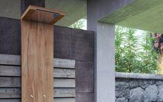 Wooden Rectangular Outdoor Shower