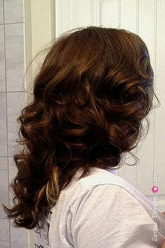 Overnight No Heat Curls using DIY Fabric Hair Rollers. Love the results from these rollers much more than any of the other no heat curl options I've tried. Curler sewing tutorial on my blog.