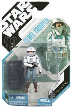 STAR WARS : Costumes and Toys : Star Wars Action Figure - 30th Concept Rebel Trooper McQuarrie - Exclusive Collector Coin - 30th Anniversary