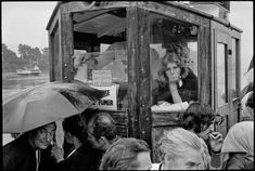 Côtes d'Armor, Brittany. Passengers get ready to board the boat serving as a shuttle between île de Brehat and Le Pointe de l'Arcouest. August 14th 1975. All photos by Guy Le Querrec/Magnum Photos