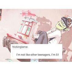 """656 Me gusta, 8 comentarios - 아버지 ~ (@murdoc_niccals_gorillaz) en Instagram: """"Not Like Other Teenagers~ ;) #gorillaz #murdoc  #gorillazphase3"""""""