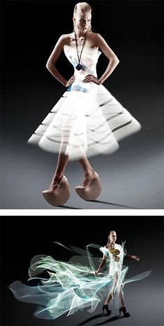 Light Painted Dresses by Atton Conrad