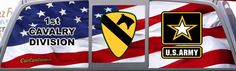 U S Army 1St Cavalry Division rear window graphic mural