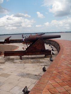 Forte do Presépio, Belém, PA, Brasil. Foto por Alessandra Rosa.    Fort of the Presépio, Belem, PA, Brazil. Photo by Alessandra Rosa.