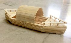 DIY Children's Wood Toy Gallery - Popsicle stick boat Popsicle stick boat Popsicle stick boat Popsicle stick boat - Popsicle Stick Boat, Popsicle Stick Crafts House, Popsicle Crafts, Craft Stick Crafts, Wood Crafts, Resin Crafts, Jewelry Crafts, Pop Stick, Stick Art