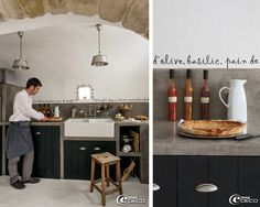Dreamy Decor in the South ofFrance - lookslikewhite Blog - lookslikewhite     Love the lettering over the backsplash