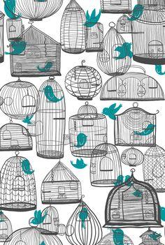 Bird cage #illustration