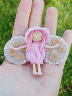Luna Moth Waldorf Fairy Bug Felt waldorf Bendy Doll  By: A Curious Twirl  https://www.etsy.com/shop/ACuriousTwirl