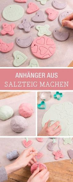 Colorful pendants made of salt dough / christmas ornaments made of salt dou . Bunte Anhänger aus Salzteig selbermachen / christmas ornaments made of salt dou… Colorful pendants made of salt dough yourself / christmas ornaments made of salt dough via Kids Crafts, Baby Crafts, Diy And Crafts, Christmas Scents, Christmas Crafts, Christmas Decorations, Christmas Ideas, Christmas Cooking, Modern Christmas