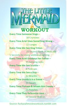Little Mermaid Workout                                                                                                                                                      More