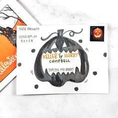 Happy Halloween from the Punkpost team! To celebrate, we're sharing some of our favorite envelopes that have been haunting mailboxes around the globe. Let's feast our eyes on these 16 boo-tiful examples of spook-tacular Halloween envelope art. Hand Lettering Envelopes, Mail Art Envelopes, Addressing Envelopes, Letter Addressing, Mailing Envelopes, Envelope Art, Envelope Design, Halloween Cards, Happy Halloween