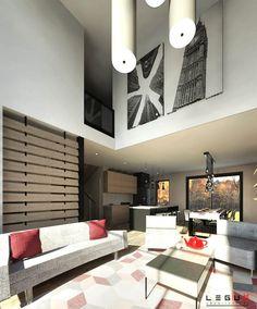 Plan de maison Ë_144   Leguë Architecture Plane, India Architecture, House Layouts, Home Goods, House Plans, Farmhouse, Construction, House Design, Contemporary