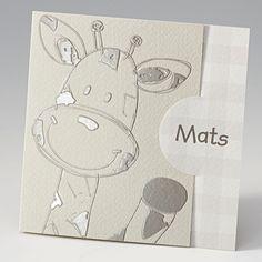 Geboortekaartje - Giraf :: Belarto www.belarto.be/geboortekaartjes