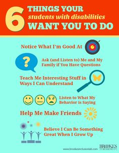6 Things Your Students with Disabilities Want You to Do | disability, special education, inclusion, teachers, teaching