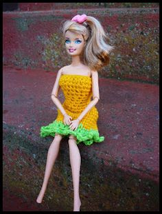 Mamma That Makes: Carrot Dress - Free Barbie Pattern