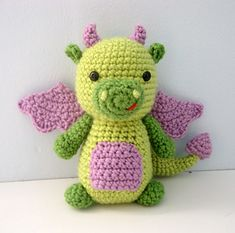 This listing is for my original crochet amigurumi Dragon Pattern. The pattern is super easy to make, I have included lots of photo to help you along the way!  $3.00