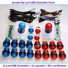 DIY комплект для создания аркадного джойстика для 2-х игроков. Запрос на Ali Express пк джойстик аркады
