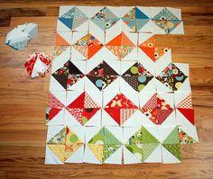 half square triangles!