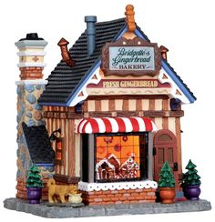 Michael's Lemax Collection, Bridgette's Gingerbread Bakery (OMG, my name & I adore Lemax towns from Michael's!!)