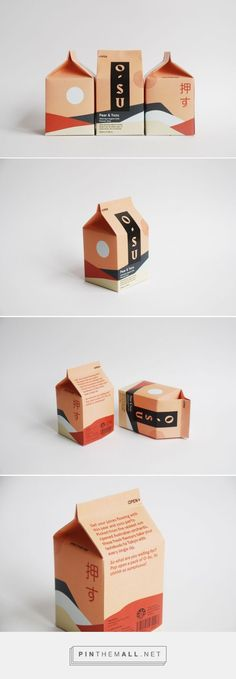 Japan is one of great countries that leads in its amazing packaging design. Japanese packaging design is well known because of it packaging characteristics that seem alive, energetic and spirited. Milk Packaging, Food Packaging Design, Beverage Packaging, Pretty Packaging, Brand Packaging, Clever Packaging, Product Packaging Design, Packaging Nets, Recyclable Packaging