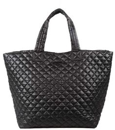 a6267dbf289e8a Mz Wallace  Large Metro  Quilted Oxford Nylon Tote - Black Mz Wallace Tote