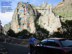 RETO VERTICAL: Vía Asterix 150m 6a (Olvena) Mount Rushmore, Mountains, Nature, Spain, Travel, Bouldering, Rocks, Naturaleza, Viajes