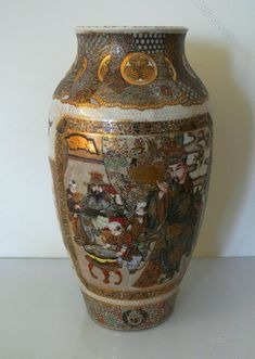 Antiques Atlas - Large Satsuma Vase.