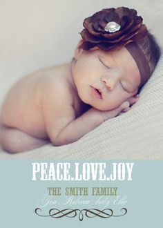 Christmas card + Baby announcement. Printed on front & back.