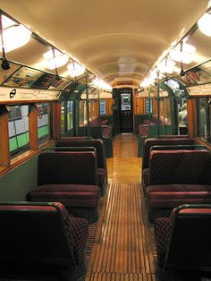 London tube train 1930s. Vintage London. From the Transport Museum.