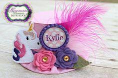 Fairytale Unicorn Mini Top Hat Birthday Hat Photo Prop by ShopPMD, $23.00