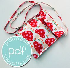 messenger bag sewing pattern purse for girls kids by patternpatti, $7.00