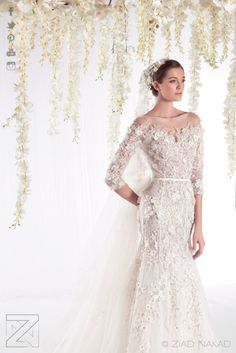 The #WhiteRealm #Bridal #HauteCouture Collection by #ZiadNakad