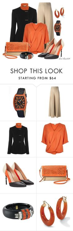 """""""o"""" is for orange by leeann829 on Polyvore featuring River Island, Roksanda, Givenchy, Roland Mouret, Stella & Dot, Crayo, Alexis Bittar and Palm Beach Jewelry"""