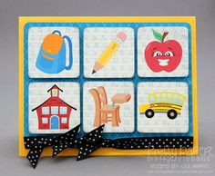 Pretty Paper, Pretty Ribbons: One More Back to School Card...Created with Back 2 School Clip Art