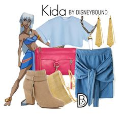 """Kida"" by leslieakay ❤ liked on Polyvore featuring Disney, Rebecca Minkoff, Kenneth Jay Lane, Chico's, River Island, One OAK by Sara, Panacea, disney, disneybound and disneycharacter"