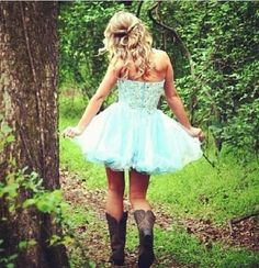 Cowboy boots with tutus | Formal | Pinterest