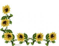Sunflower Corner Border Design