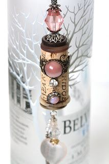 Cork Bella Vintage -Opal Blush is ONE OF A KIND decorative cork ornament. Made with an original Sea Ridge wine cork. Opal Blush has a in. Wine Craft, Wine Cork Crafts, Wine Bottle Crafts, Bottle Art, Wine Cork Jewelry, Wine Cork Art, Holiday Crafts, Fun Crafts, Diy Cork