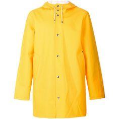Stutterheim hooded raincoat (5.975 CZK) ❤ liked on Polyvore featuring outerwear, coats, jackets and stutterheim