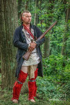 Eastern Woodland Warrior -  American indian reenactment