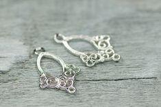 Filigree Chandelier Earrings Base Sterling by BeadsForYourJewelry, $6.50 #chandelier #earrings #filigree #findings #silver