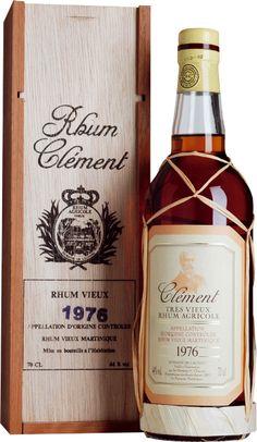 Clement Rhum Vieux Vintage 1976 Tolle Geschenke mit Rum gibt es bei http://www.dona-glassy.de/Geschenke-mit-Rum:::22.html