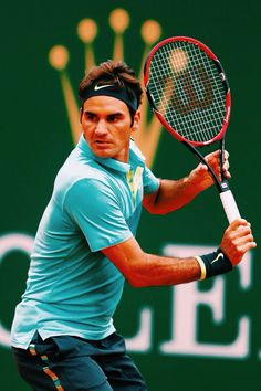 Roger Federer Monte Carlo 2015  Look at all the sponsorship  1) NIKE - Headband. Wristband 2) Wilson Tennis Racket 3) Rolex Watches  And the best one Roger Federer RF ( Himself )